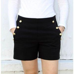 Banana Republic  Sailor Shorts Nautical Black NWT